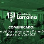 Comunicado: nuevas medidas del club a partir del 1 de abril