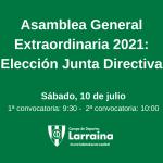 Comunicado: Asamblea General Extraordinaria – Elección de la nueva Junta Directiva